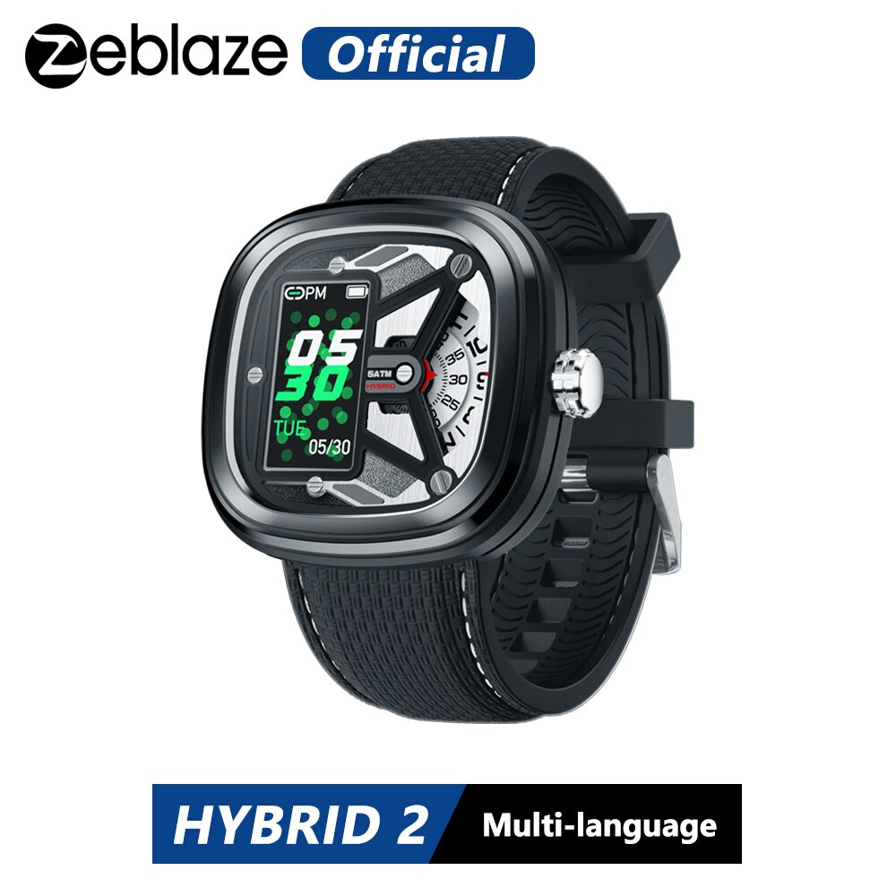 Zeblaze الهجين 2 Smartwatch القلب معدل 50M للماء 0.96 'IPS المألوف وأنيقة الصناعية عناصر طويل عمر البطارية