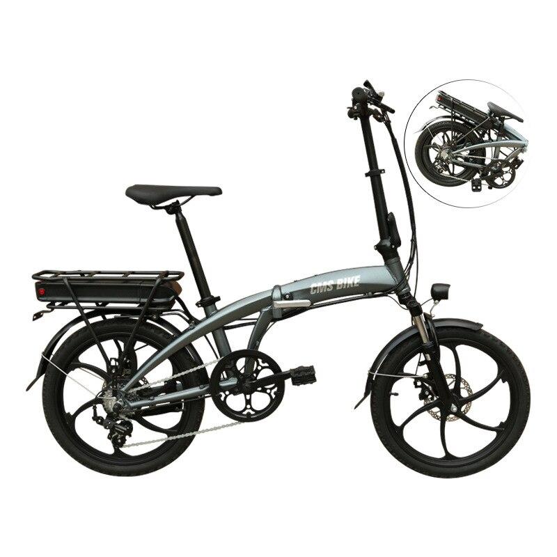 دراجة كهربائية قابلة للطي 48 فولت خفيفة 20 بوصة من بطارية ليثيوم مركبة كهربية بطارية تخزين الطاقة دراجة كهربائية