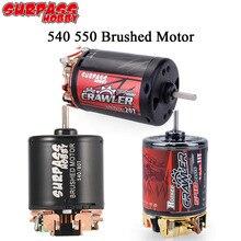 SURPASS HOBBY 5-Slot 3-Slot 540 550 540 Plus Brushed Motor 12T 16T 27T 35T 80T for 1/10 RC Monster T