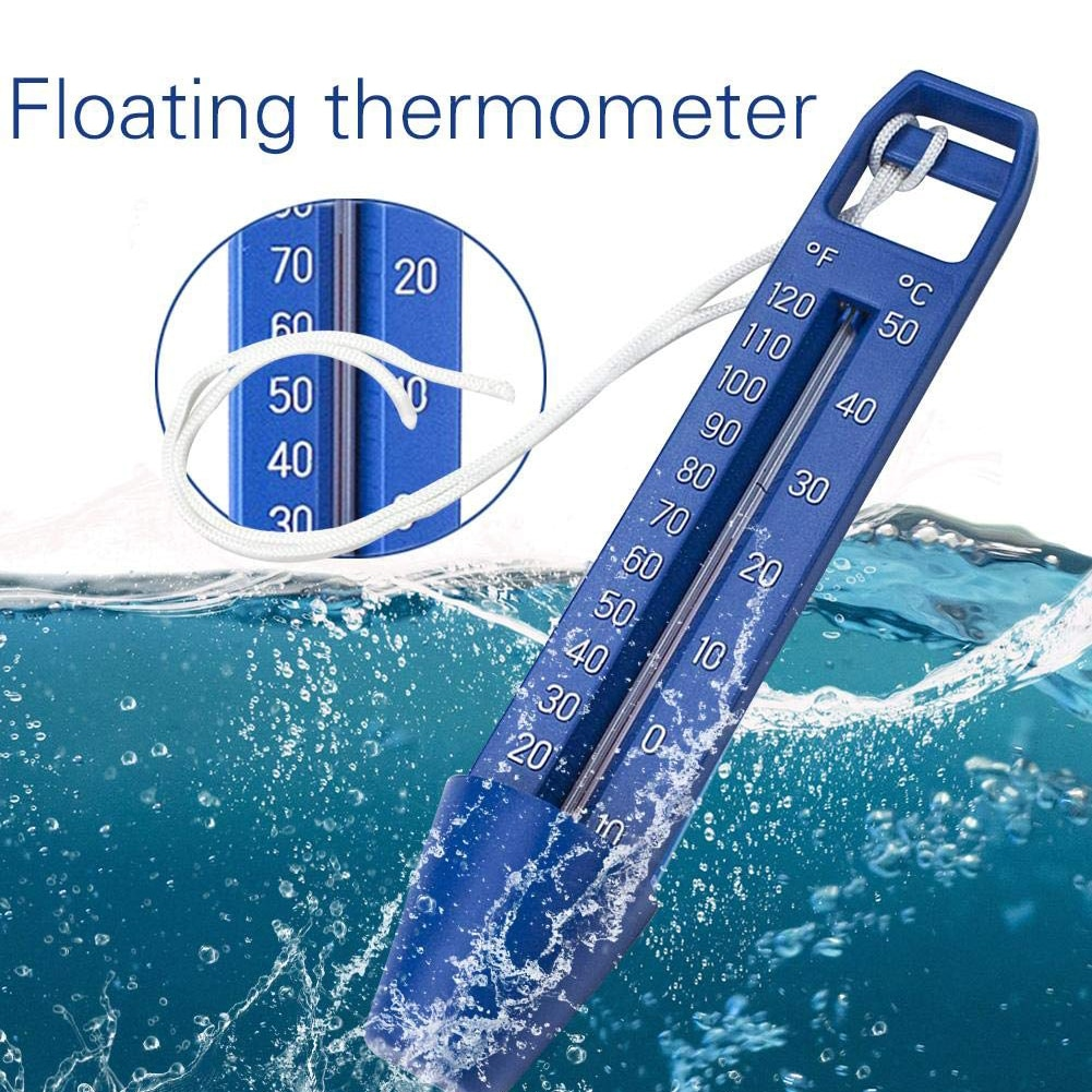 Swimming Pool Floating Thermometer Practical Multi-functional Hot Tub Ponds Durable Portable ABS Water Temperature Meter