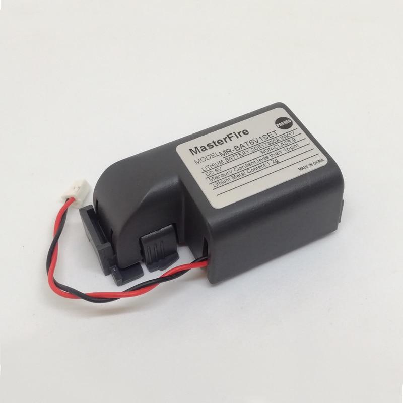 MasterFire 10 unids/lote MR-BAT6V1SET MR-J4 6V 1500mAh litio PLC batería de respaldo para Mitsubishi 2CR17335A WK17 CNC máquinas herramientas