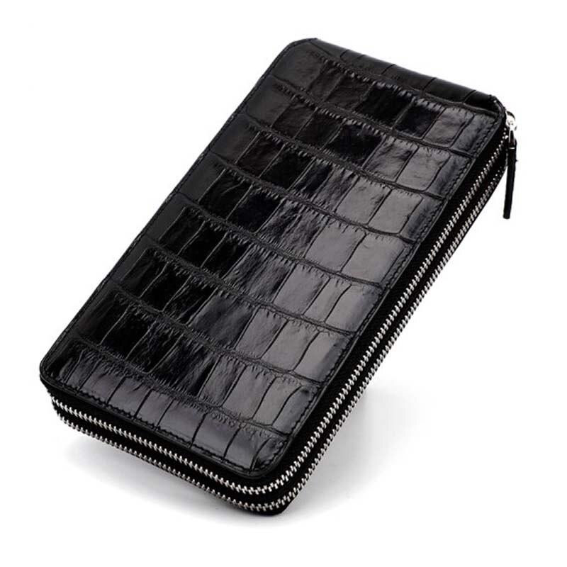 yinshang crocodile men clutch bag  Double zipper  Men bags  business large capacity  More screens  Men wallet
