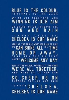 Más estilo, elige la canción inspirada en Chelsea FC, impresión artística en HD, cartel de seda, decoración de pared para el hogar, 24x36 pulgadas