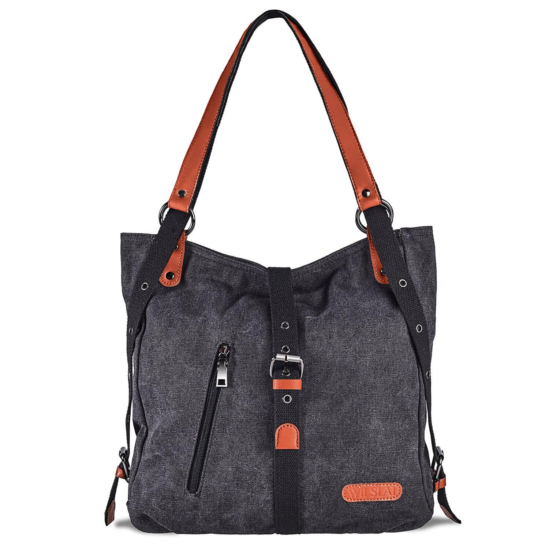 Женский холщовый рюкзак-тоут, износостойкий и грязеотталкивающий Рюкзак-трансформер для школы, офиса, путешествий