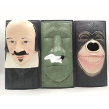 Shakespeare Creative Resin Tissue Box Funny Gorilla Moai Square Napkin Holder Car Home Kitchen Restaurant napkin Towel box