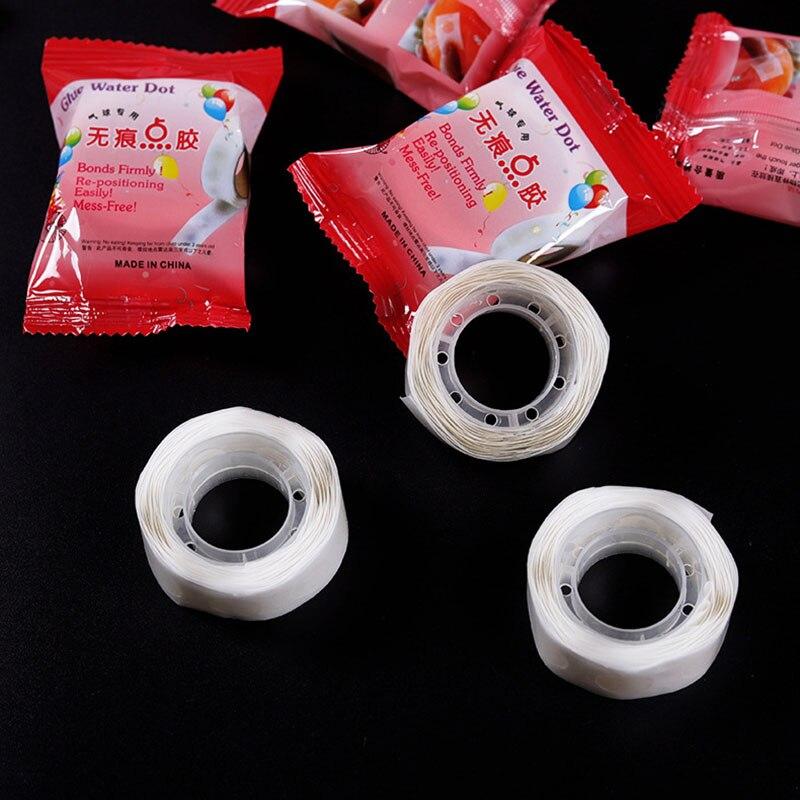 En STOCK1/3/10 Uds. Dot súper adhesivo de goma de doble cara fiesta de globos decoración de la boda Baby Shower suministros de fiesta de cumpleaños