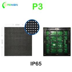 P3 impermeável cor cheia led módulo 192*192mm ao ar livre display led tela matriz rgb led sinal módulo painel