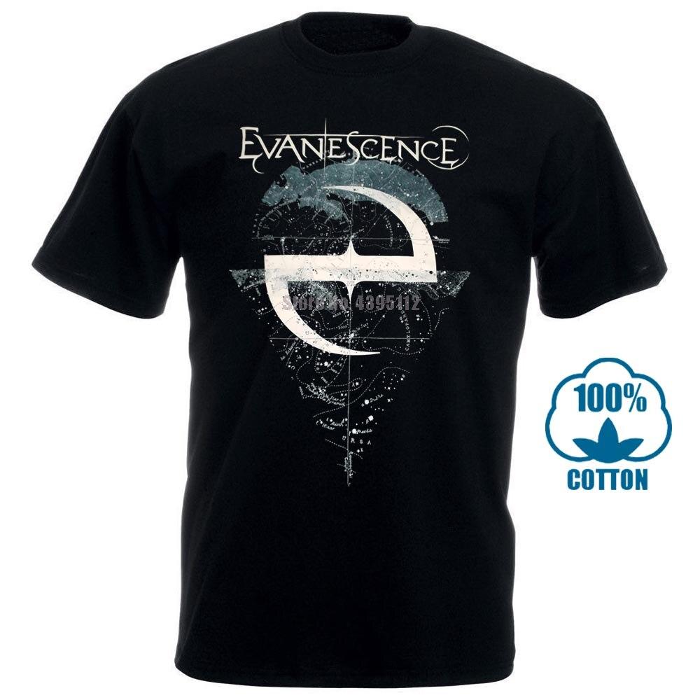 Evanescence Space Map camiseta nueva y camiseta oficial, cuello redondo, verano, personalidad, moda para hombres, camisetas 012173