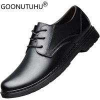2021 style mens shoes casual genuine leather classic brown or black lace up derby shoe man comfortable shoes for men size 36 46