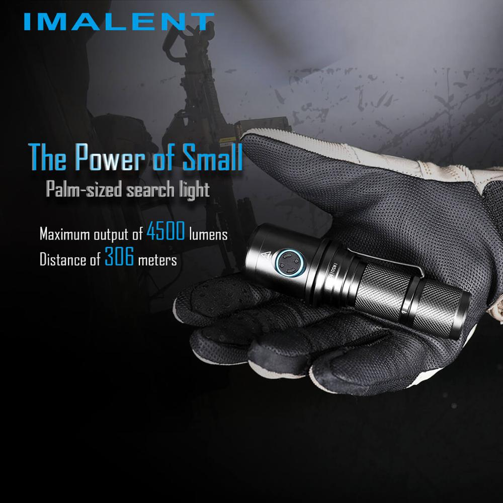 Imalent - DM70 CREE XHP70 LED Flashlight, 4500 Lumens Rechargeable Tactical Flashlight with 21700 Battery for Hiking and Camping enlarge