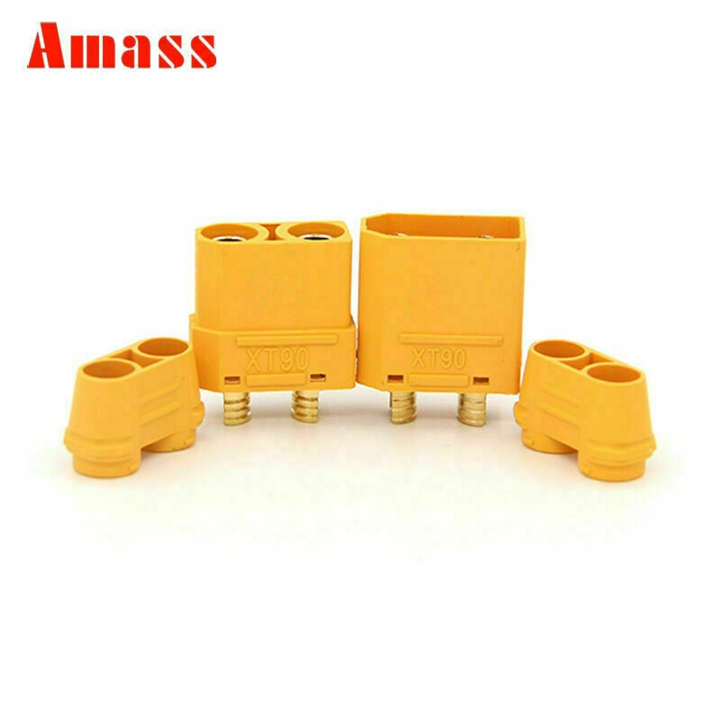 5 Pairs/10 Pairs Amass XT90H Plug Male and Female 4.5mm golden Plated Bullet Banana Plug  Connector for RC ESC Battery