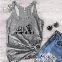 garden tshirt succulent lover clothing what the fucculent tops plant mom shirt women gardening tee 2021