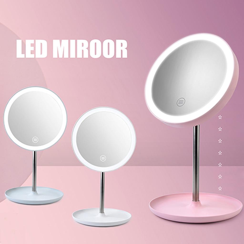 Makijaż podświetlane lustro LED Lights lustro lustro do makijażu z naturalna biel LED Daylight odpinany/podstawa do przechowywania 3 tryby do lustra