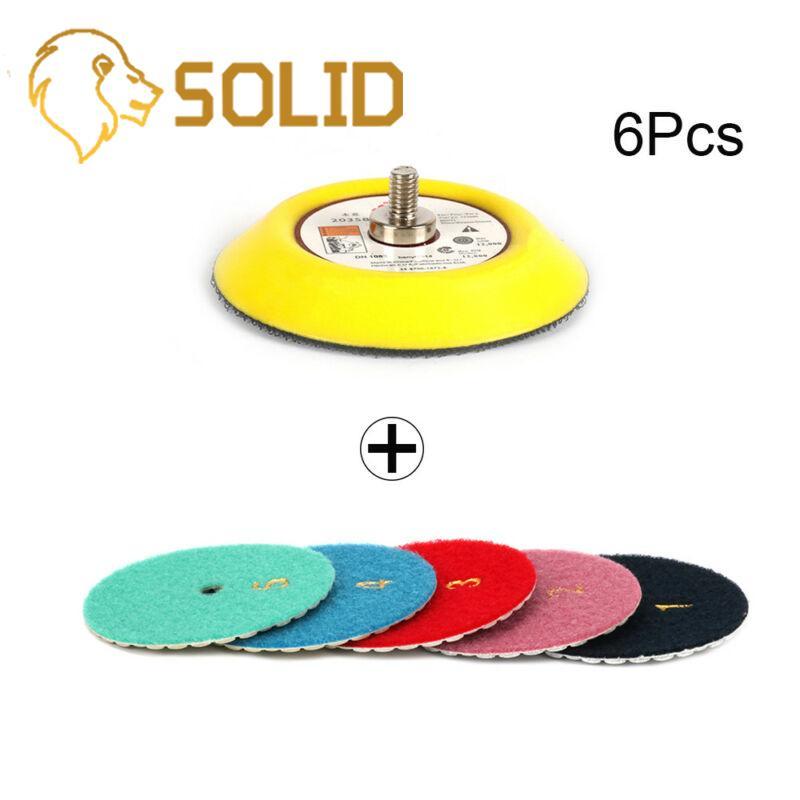 Disco de pulido con ángulo de 80mm y 6 uds., disco de pulido para pulido de mármol y granito, 1 unidad de 3 pulgadas