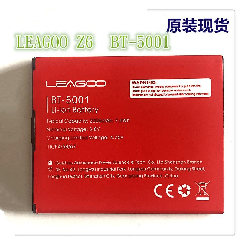 Mobile phone battery LEAGOO Z6 BT-5001 battery 2000mAh Long standby time High-quality LEAGOO Mobile