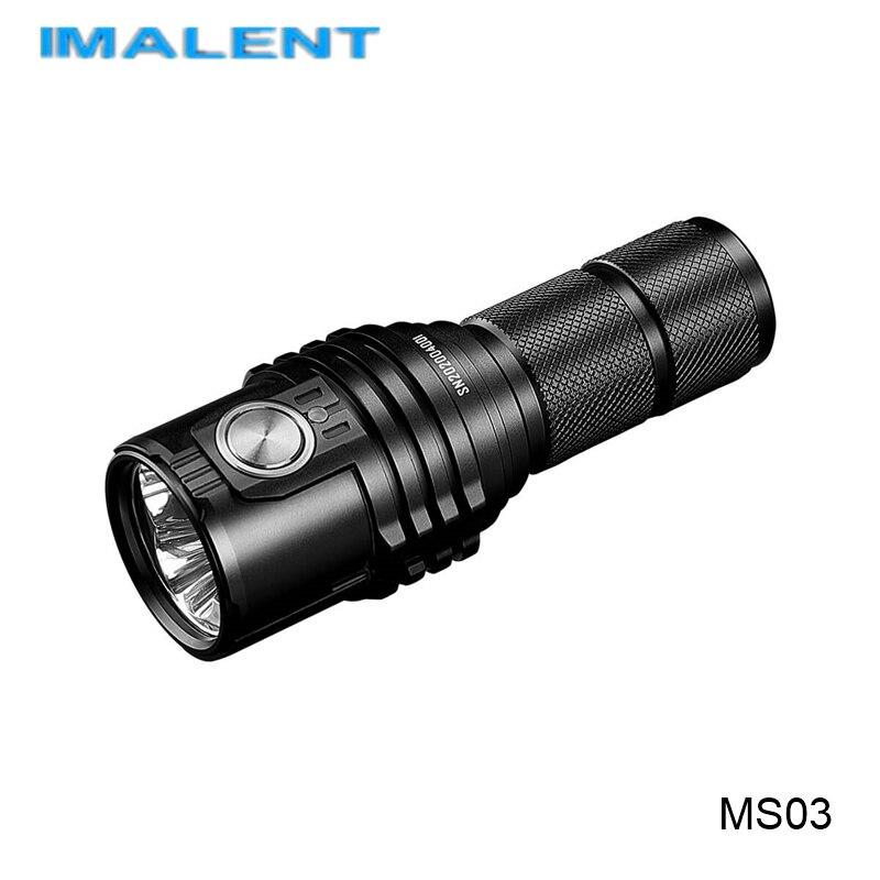Imalent MS03 tipo C recargable 21700 batería linterna 13000 lúmenes potente linterna con reflector