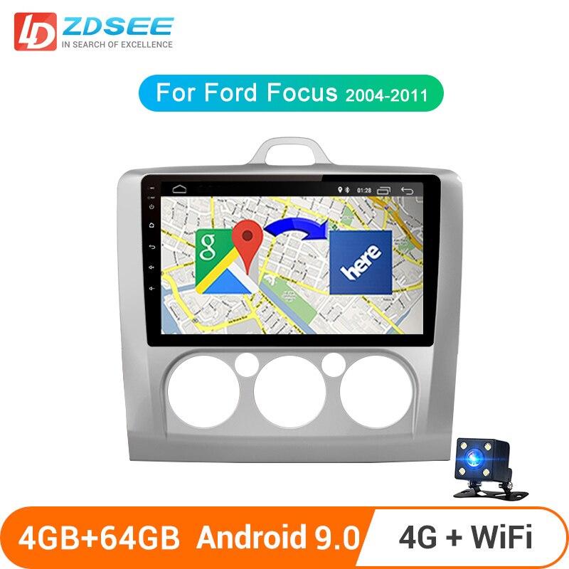 LDZDSEE T1 para Ford Focus 2 3 Mk2 / Mk3 2004-2011 auto Radio Multimedia reproductor de video GPS No 2 din Android 9,0 4GB + 64GB