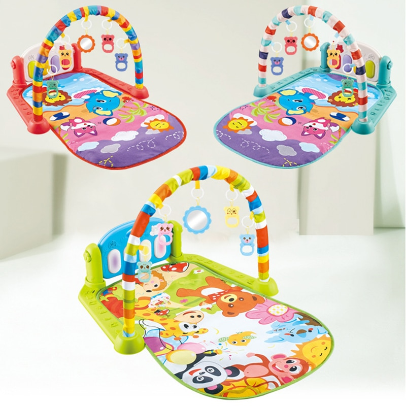 infant baby flying chess waterproof play mat early learning toy fitness bodybuilding frame crawling mat kick play lay sit toy 3 Styles Baby Music Rack Play Mat Kid Rug Puzzle Carpet Piano Keyboard Infant Play Mat Early Education Gym Crawling Gamepad Toy