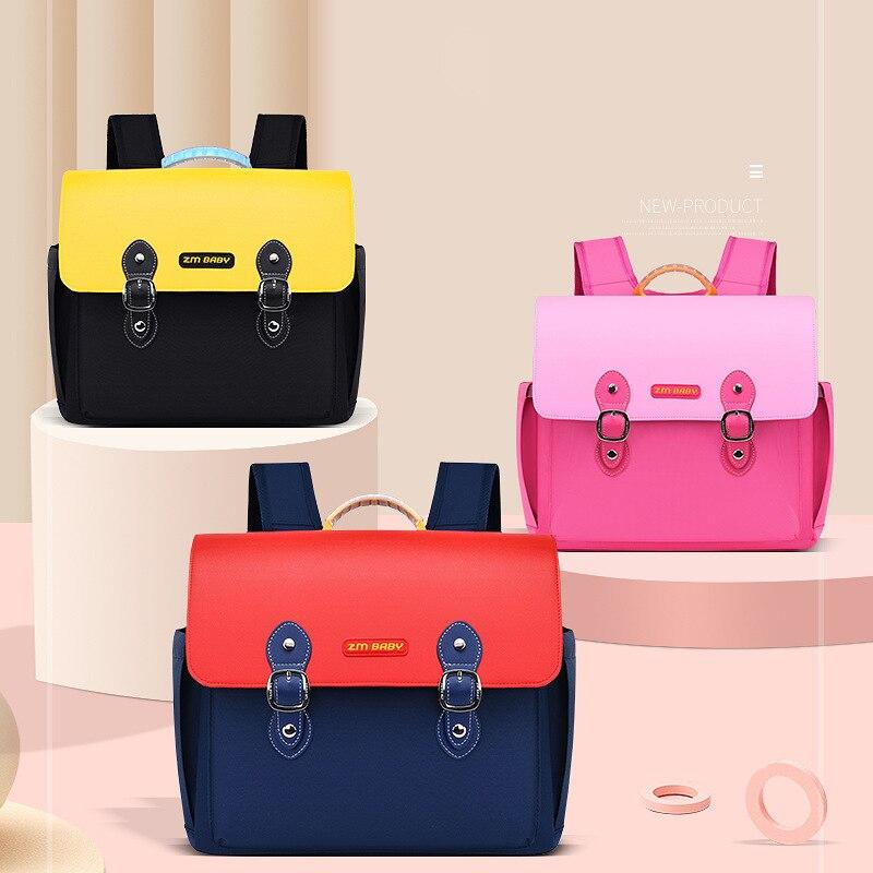 Pu Girl School Bags Child Pink England Backpack Boys Student Cute Girls Gifts  Schoolbag Waterproof Kids School Bag for Boys