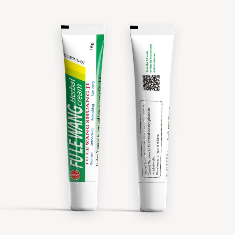 50Pcs FULEWANG  Skin Psoriasis Cream Dermatitis Eczematoid Eczema Ointment Treatment Psoriasis Cream With Retail Box 15g
