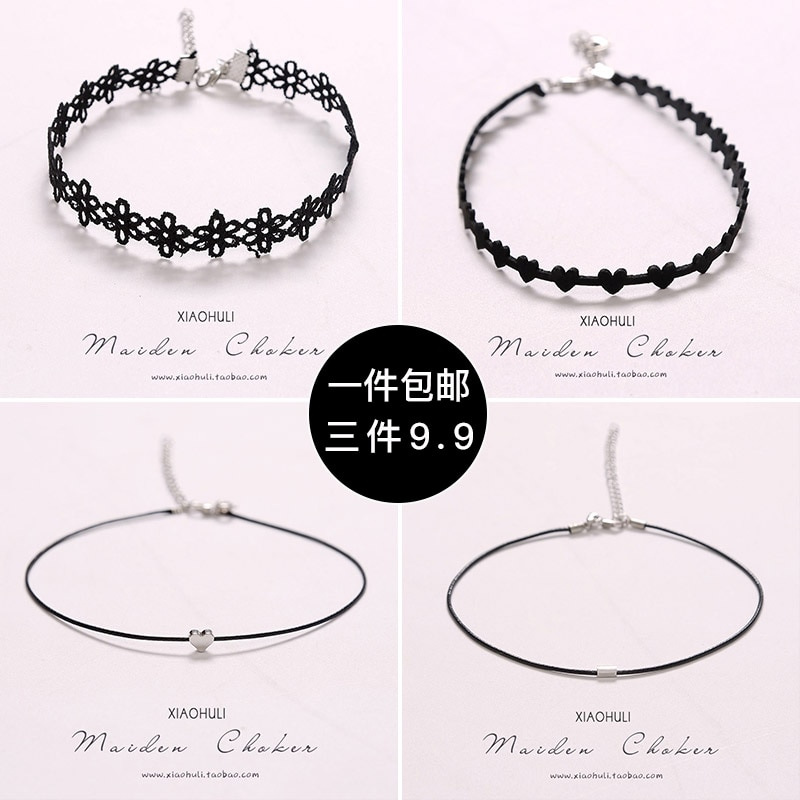 Short Neckband Necklace Women's Fashionable Choker Clavicle Chain Neck Accessories Neck Band Niche N