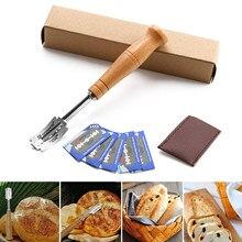 Coupe-pain, pâte, couteau à Toast, rasoir, avec 5 lames remplaçables, couvercle de protection pour cuisine professionnelle