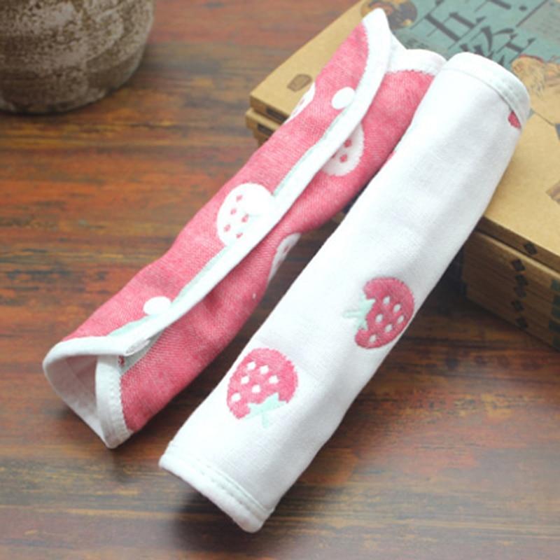 2PCS Pushchair Pram Stroller Armrest Handle Grip Bar Cover Universal Protective Dust-Proof Cotton Handle Sleeve Baby Bibs