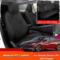 car styling for hyundai elantra cn7 2021 present pu leather auto seat cover mat pad water proof internal accessories