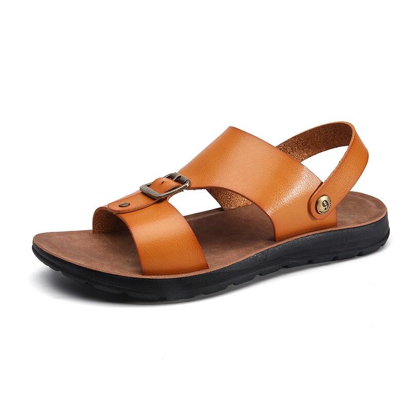 Hombre masculino para zapatos hombre cuero hombre sandalias sandalia piel ete caucho...