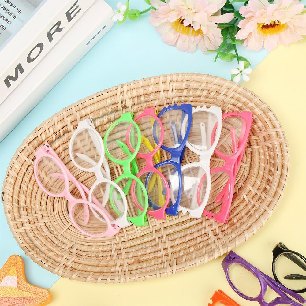 Muñeca de juguete miniatura gafas para muñecas de 18 pulgadas Mini colorido gafas para muñeca lentes con marco redondo gafas muñeca juguetes gafas