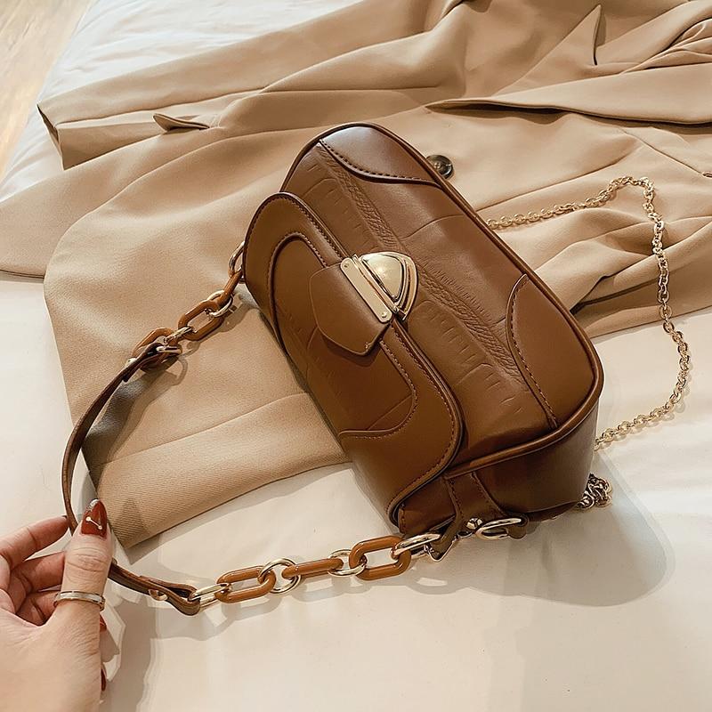 Crocodile pattern Small Tote bag 2021 Fashion New High-quality PU Leather Women's Designer Handbag Chain Shoulder Messenger Bag