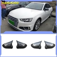 for audi a4 a5 b9 side mirror caps carbon look 2017 2018 2019 s4 s5 rs5 allroad quattro replace covers