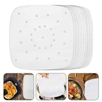 100 sheets air fryer square baking paper silicone oil paper bun cake paper saucer non stick steaming basket mat baking tools