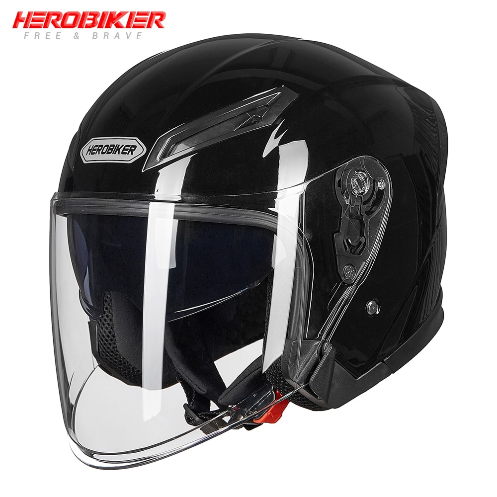 HEROBIKER New Motorcycle Helmet Open Face Moto Helmet Motorbike Full Face Helmet Street Bike Racing Helmet Moto Cascos Dual Lens