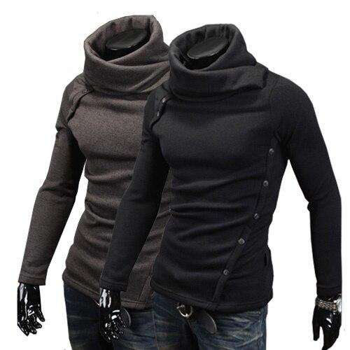 ZOGAA men Sweater warm long-sleeved turtleneck sweater jacket casual collar sweater street comfortable sweater plus size XS-4XL