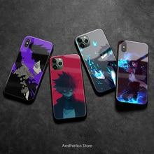 Dabi meu herói academia anime macio silicone vidro caso do telefone capa escudo para iphone se 6s 7 8 plus x xr xs 11 pro max