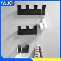 robe hook black coat hooks wall mounted self adhesive bathroom hooks for towels bag key hat clothes rack hotel bathroom hardware