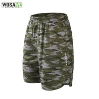 wosawe gel padded cycling shorts mens mtb bicycle shorts with earphone hole loose cycling short pants quick dry spinning shorts