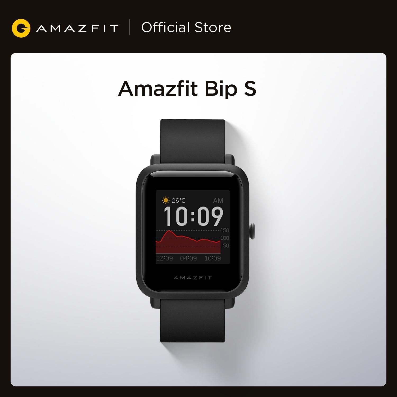 متوفر في المخزون 2020 العالمي Amazfit Bip S Smartwatch 5ATM مقاوم للماء بنيت في نظام تحديد المواقع غلوناس ساعة ذكية للهاتف أندرويد iOS