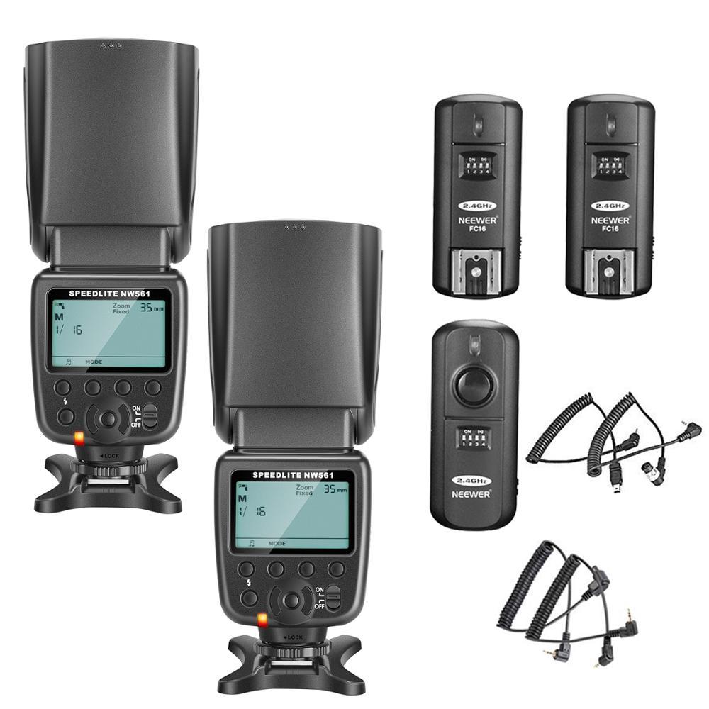 Neewer NW-561 LCD pantalla Flash Kit de Speedlite para Canon Nikon y otras cámaras DSLR