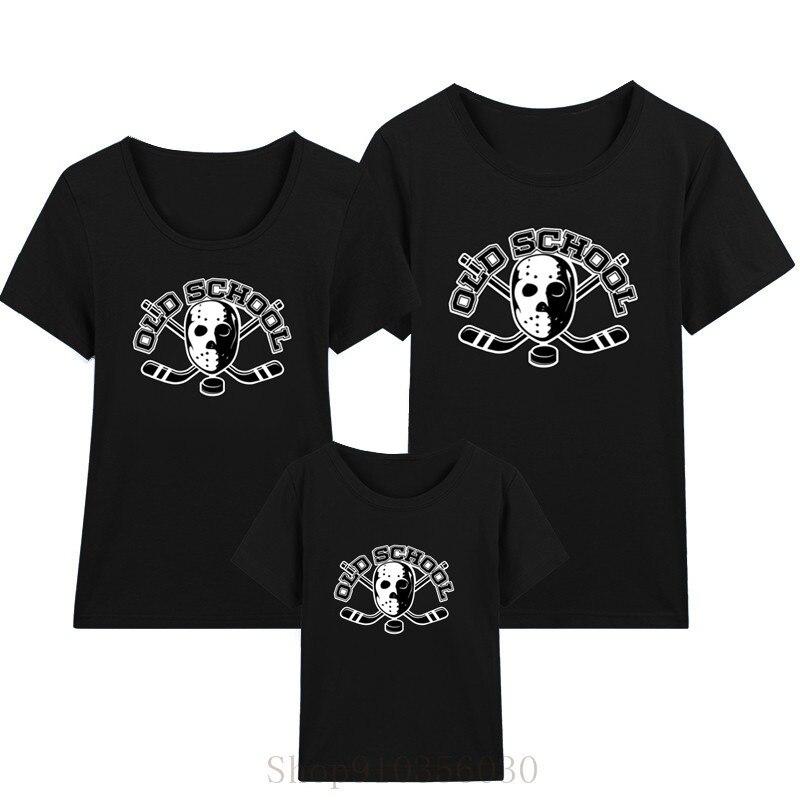 Horror Jason Voorhees-diseño de la vieja escuela Hockey hombres Hockey mamá y me sombreros ropa de niños vestidos de verano