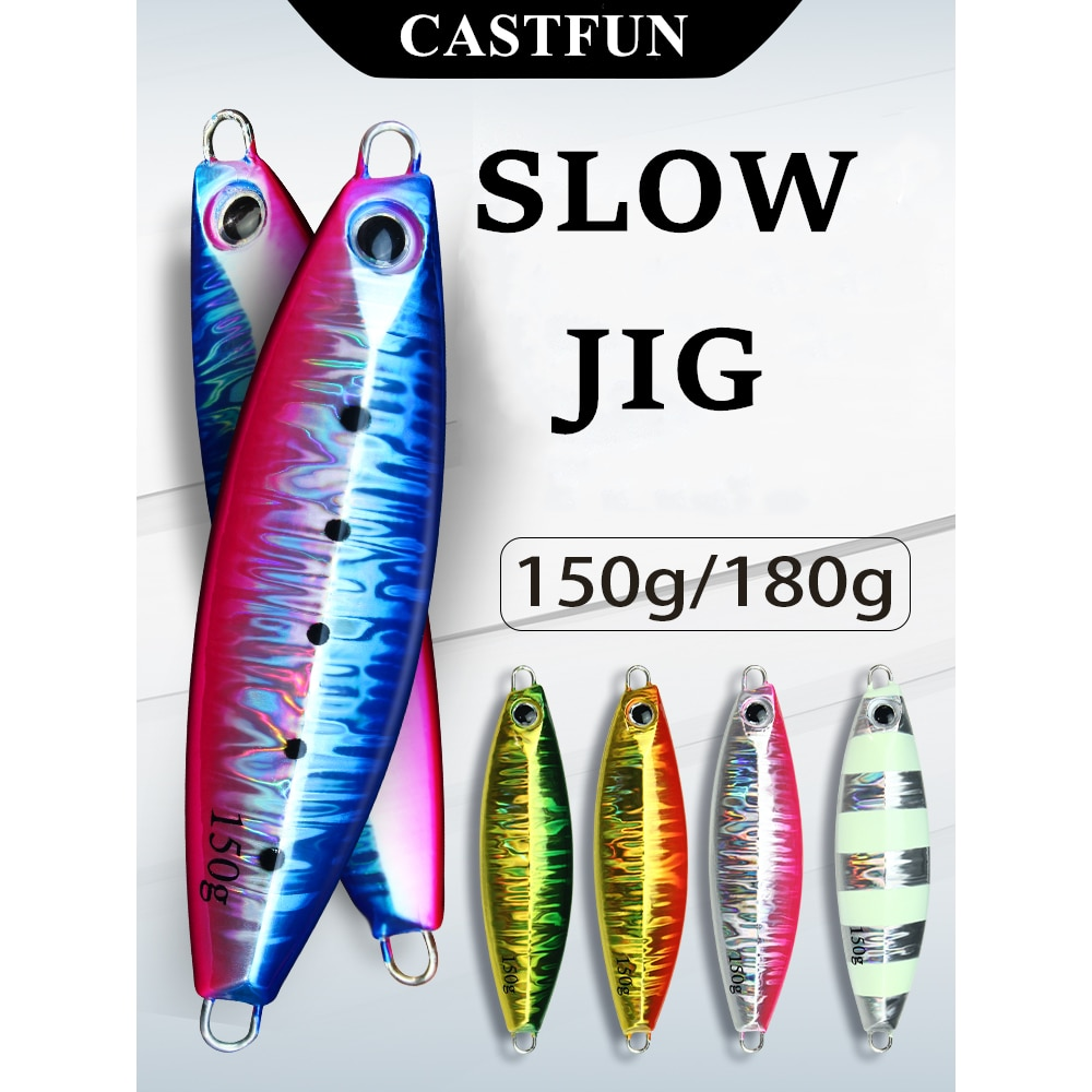 AliExpress - CASTFUN Slow Blatt S Jigging Lure Artificial Bait Lure Fishing Lures Metal jig 150g 180g Slow jig Glow In The Dark Summer