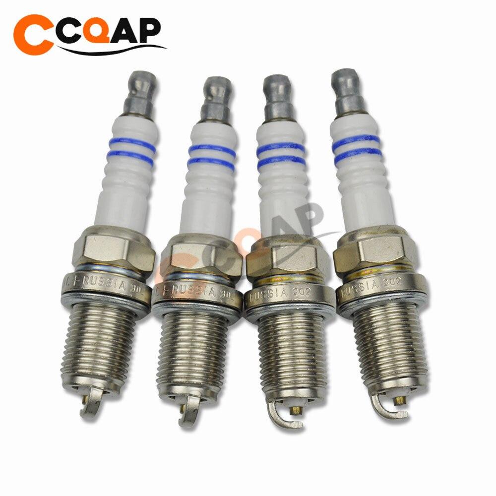4x FR7DC+ 7955 +8 Normal Spark Plug For Dodge Volvo Kia Chrysler Plymouth Infiniti Suzuki 0 242 235 666 0242235666