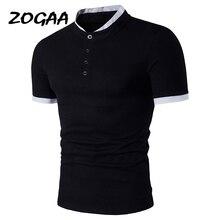 ZOGAA marka 2020 yeni erkek POLO GÖMLEK kısa kollu iş rahat Slim Fit Tops polo nefes pamuk polo gömlekler erkek giysileri