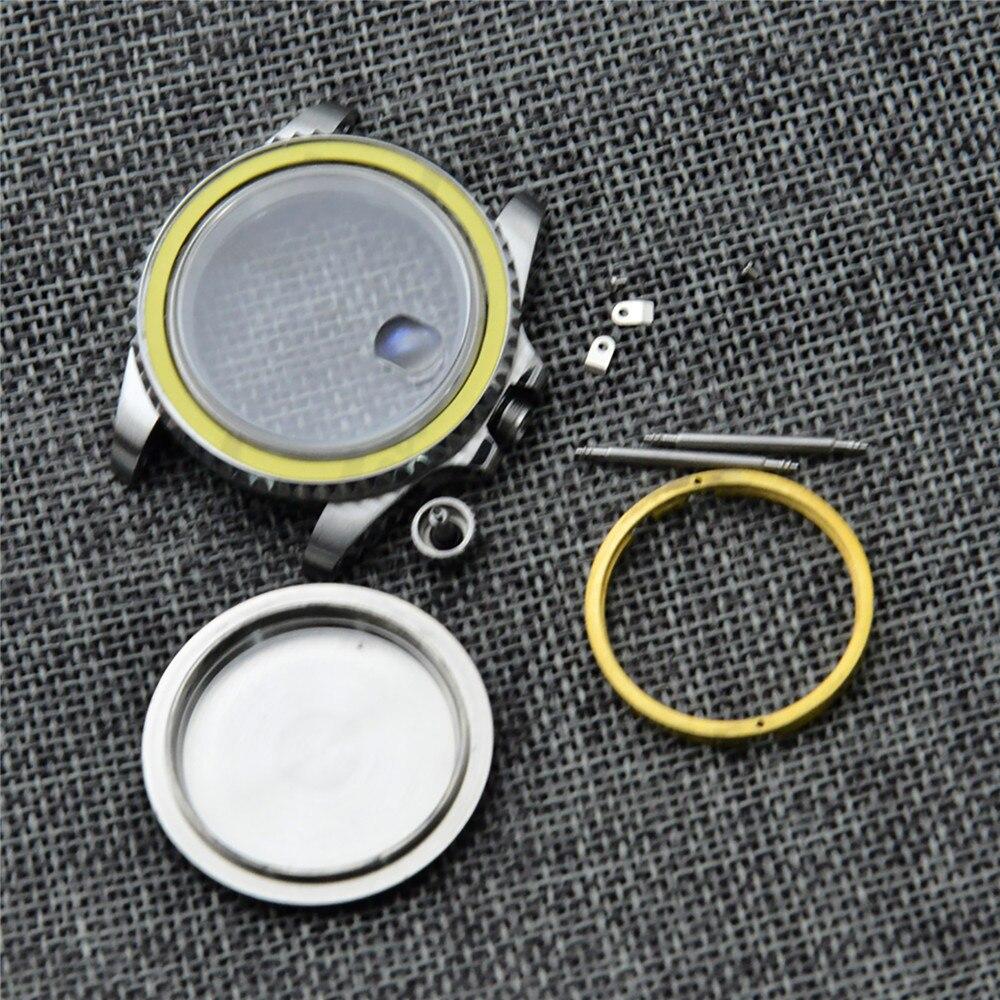 Caixa do Relógio de Aço para Eta 2824 Assista Movimento 41mm Inoxidável Kit Reposição Peças Reparo 2836 8215 8205 2813 Nh35
