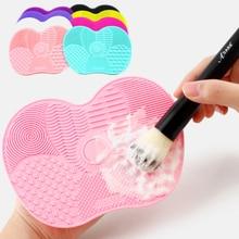 1pc Silicone Foundation Makeup Brush Scrubber Board  Makeup Brush Cleaner Pad Make Up Washing Brush