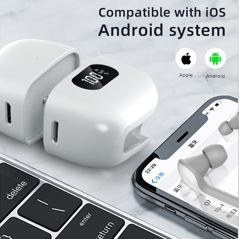 Gemini Charge Case In-ear Touch Earbud Bluetooth V5.0 Auto Connect Earphone Single/Dual Earbuds Wireless Headset Volume Adjust enlarge
