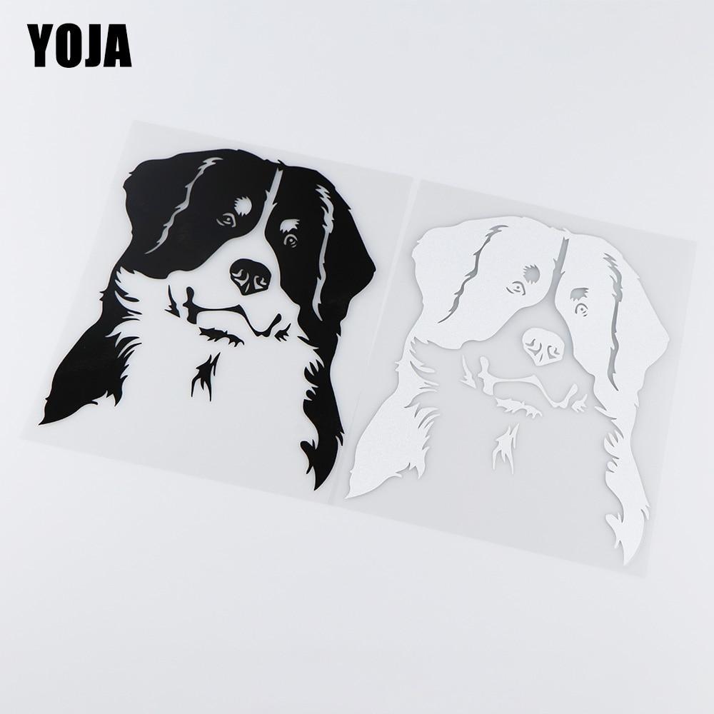 YOJA 9,3X17 CM Suiza Bernese Mountain Dog Etiqueta de personajes animados pegatinas de vinilo para coche ZT4-0092