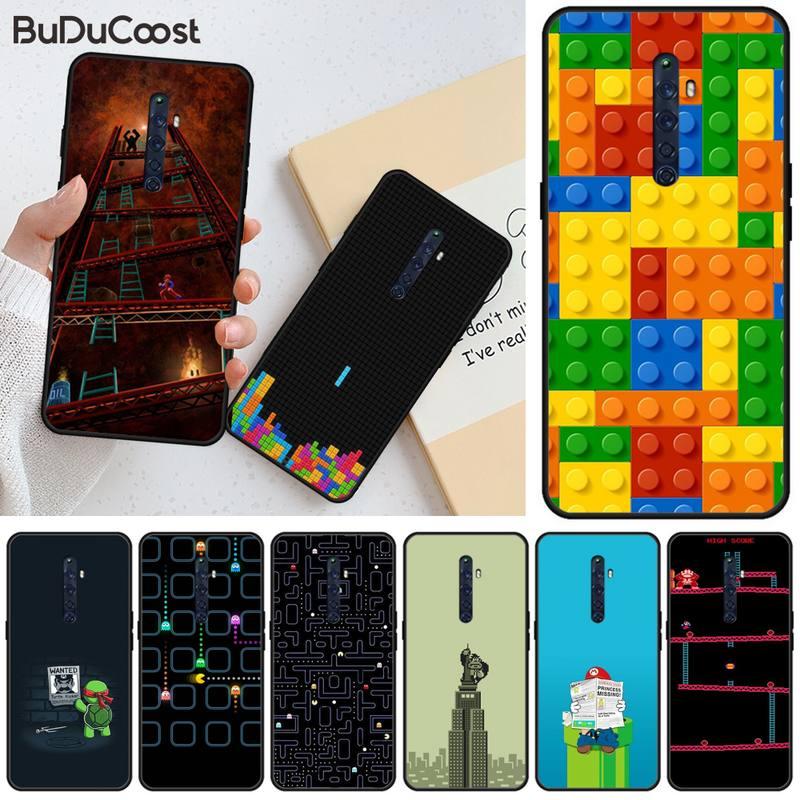Manton popular jogos de moda silicone macio preto caso de telefone para oppo r11 11s plus reno 2z r15pro r17pro realme 2 3 5 5pro c2
