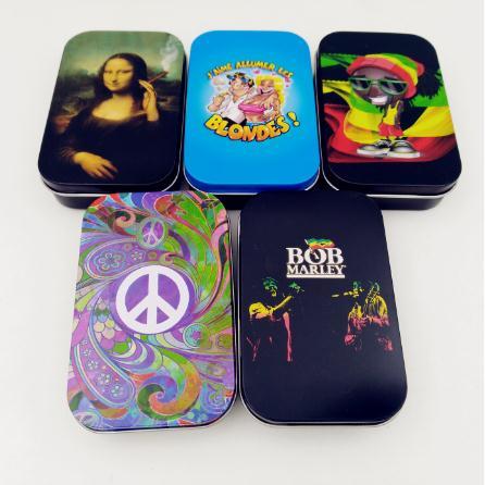 Envío gratis 1 Uds moda cajas de lata para almacenar caja de tabaco humidor de caja de papel de caja para cigarrillos titular